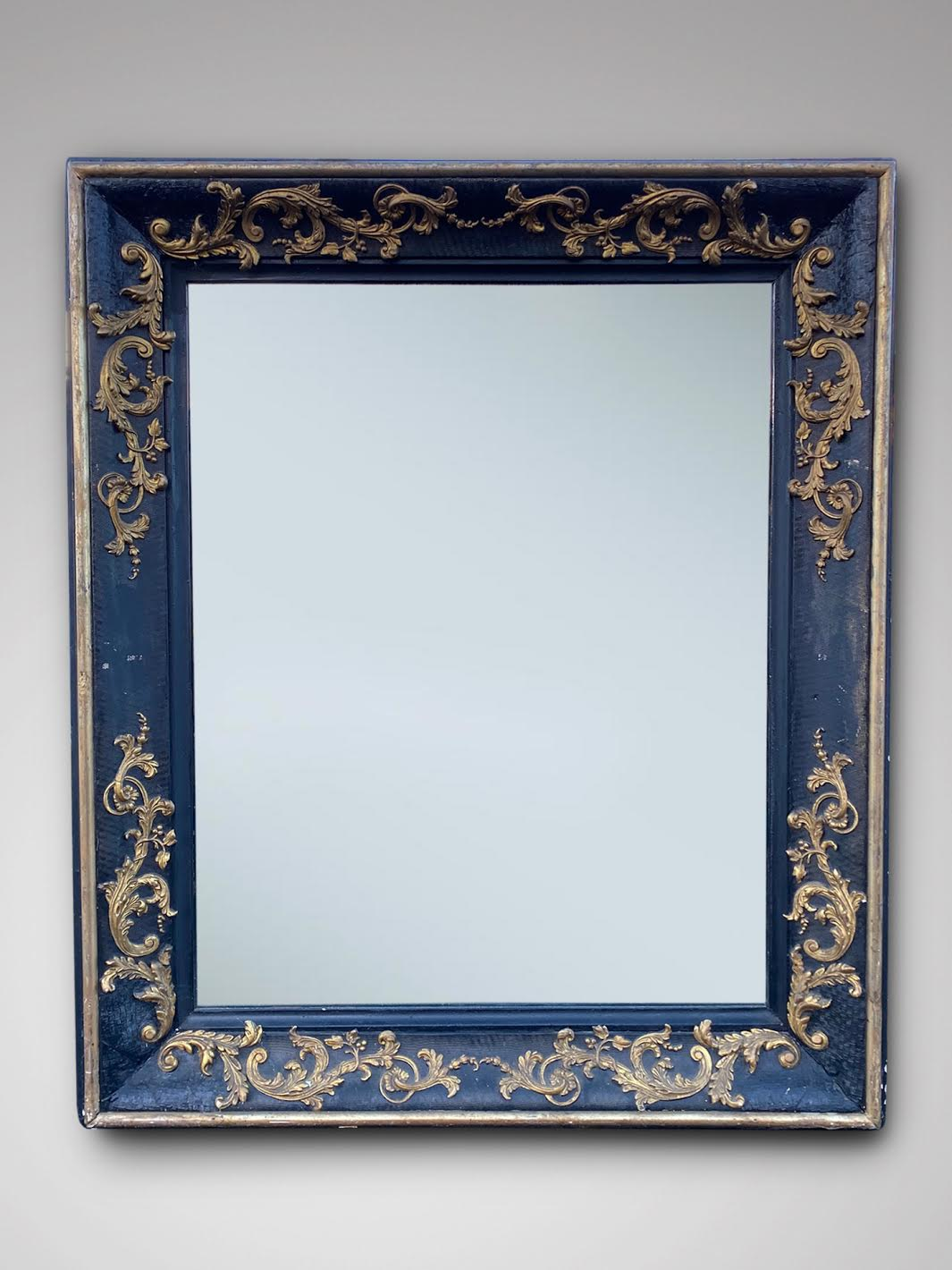 19C LARGE FRENCH EMPIRE WALL MIRROR