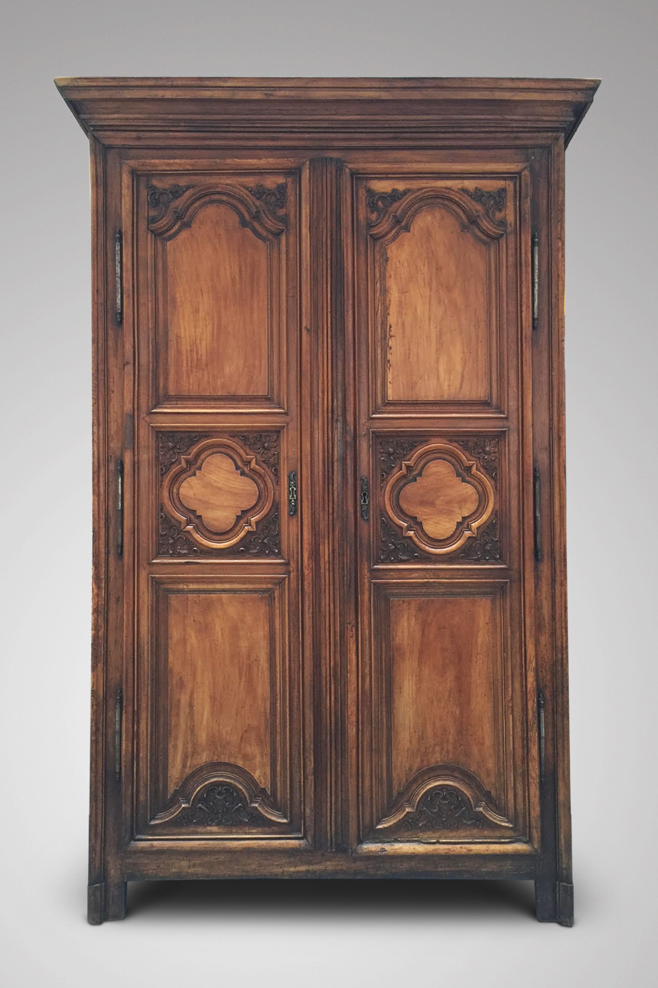 SOLD/18C FRENCH WALNUT ARMOIRE