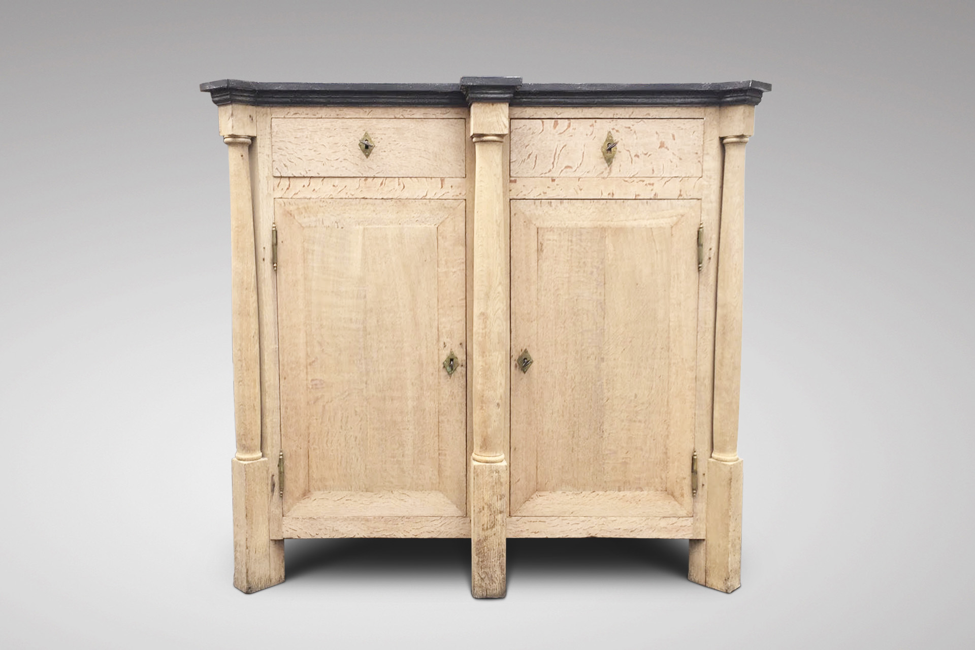 SOLD/19C BLEACHED OAK CUPBOARD