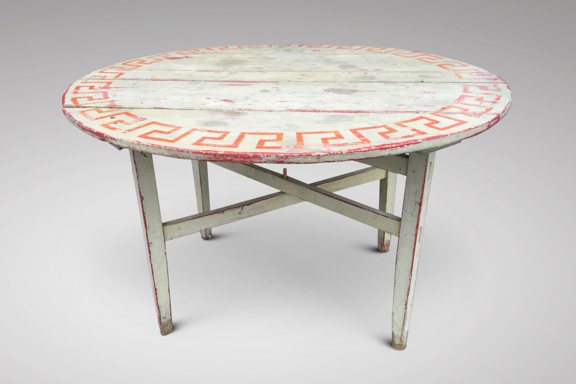 SOLD/19C FRENCH PAINTED TABLE