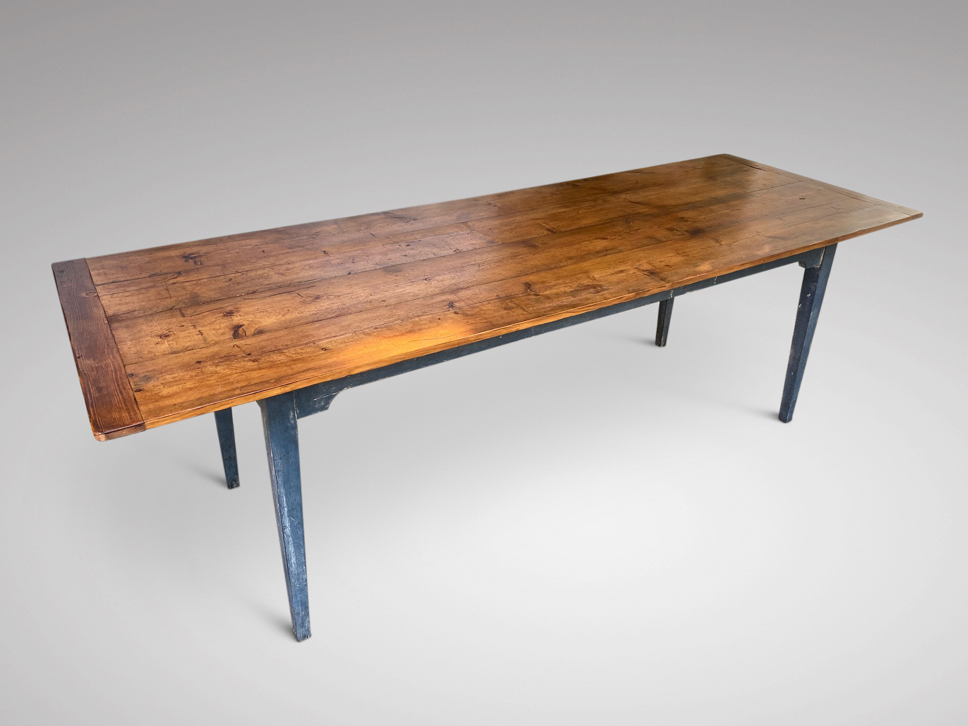 SOLD/19C LARGE PINE TOP FARMHOUSE TABLE