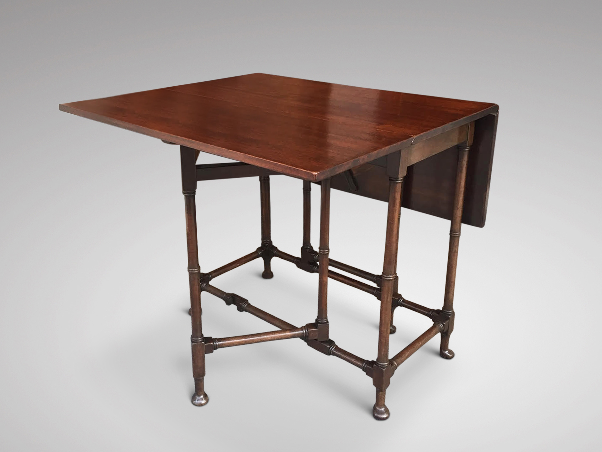SOLD/19C LOW MAHOGANY SPIDERTABLE