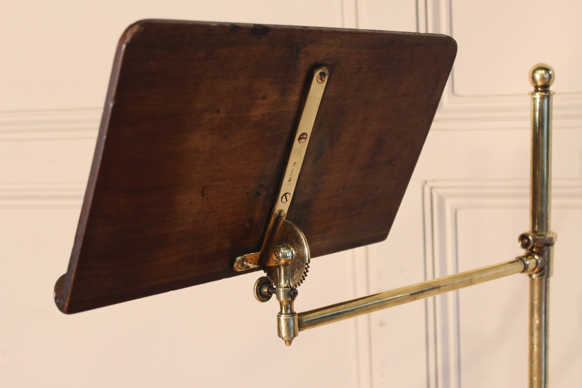 SOLD/19C MAHOGANY & BRASS READING STAND