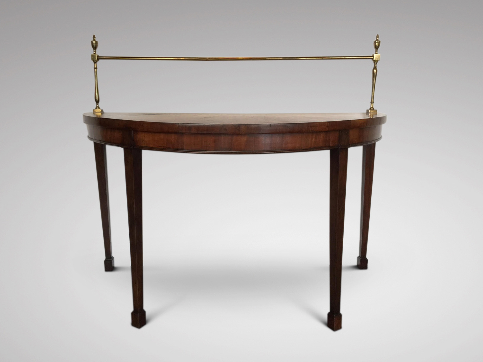 SOLD/19C MAHOGANY DEMI LUNE SERVING TABLE