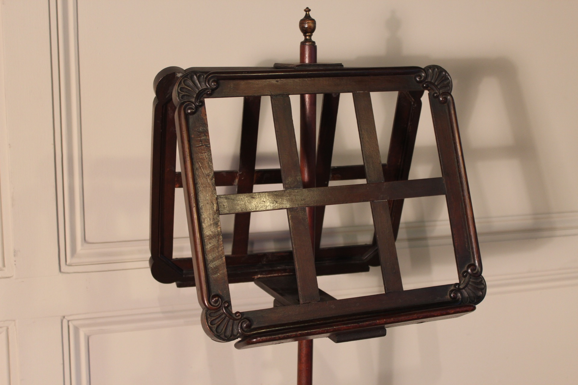 SOLD/19C MAHOGANY DUET MUSIC STAND