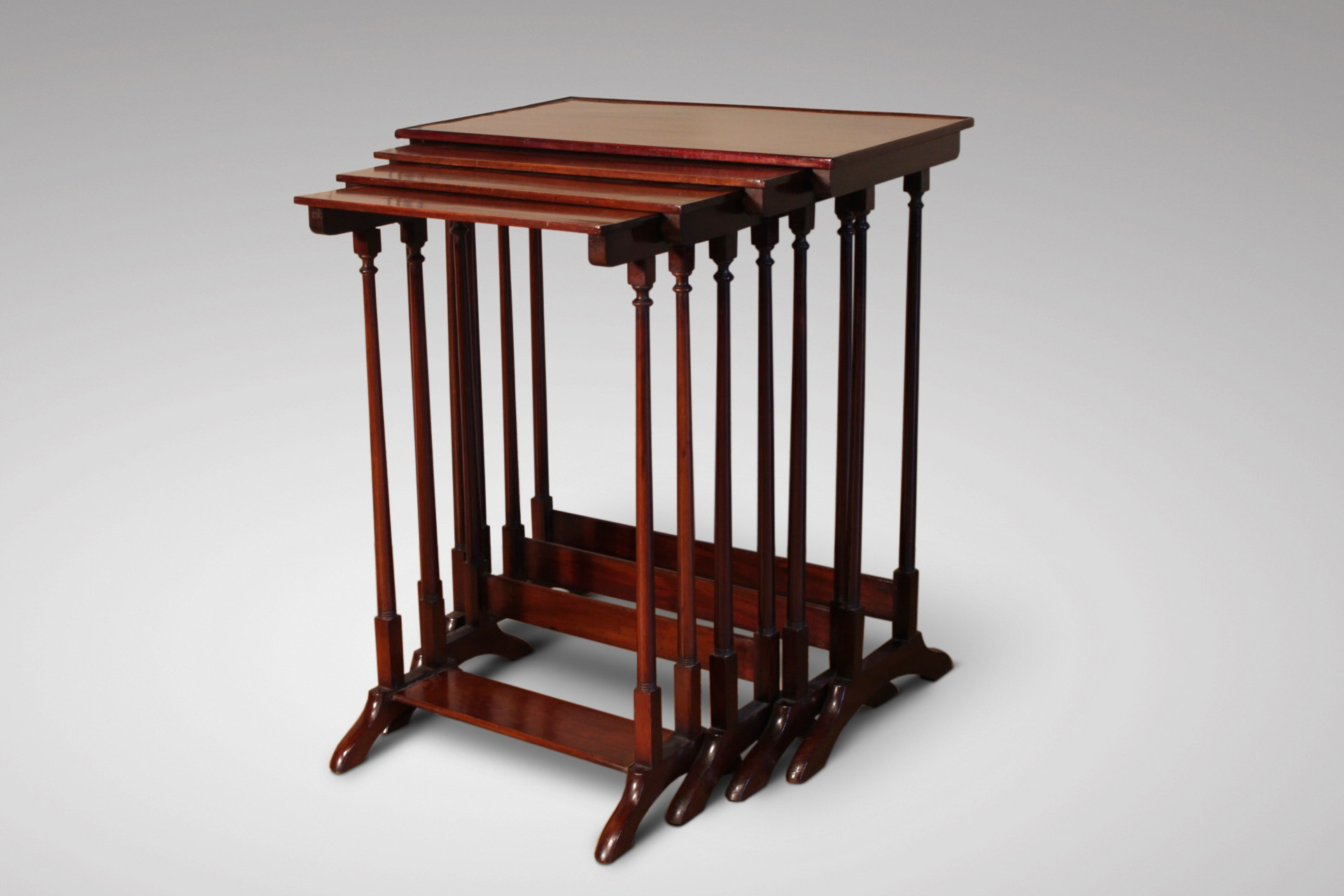 SOLD/19C MAHOGANY NEST OF TABLES