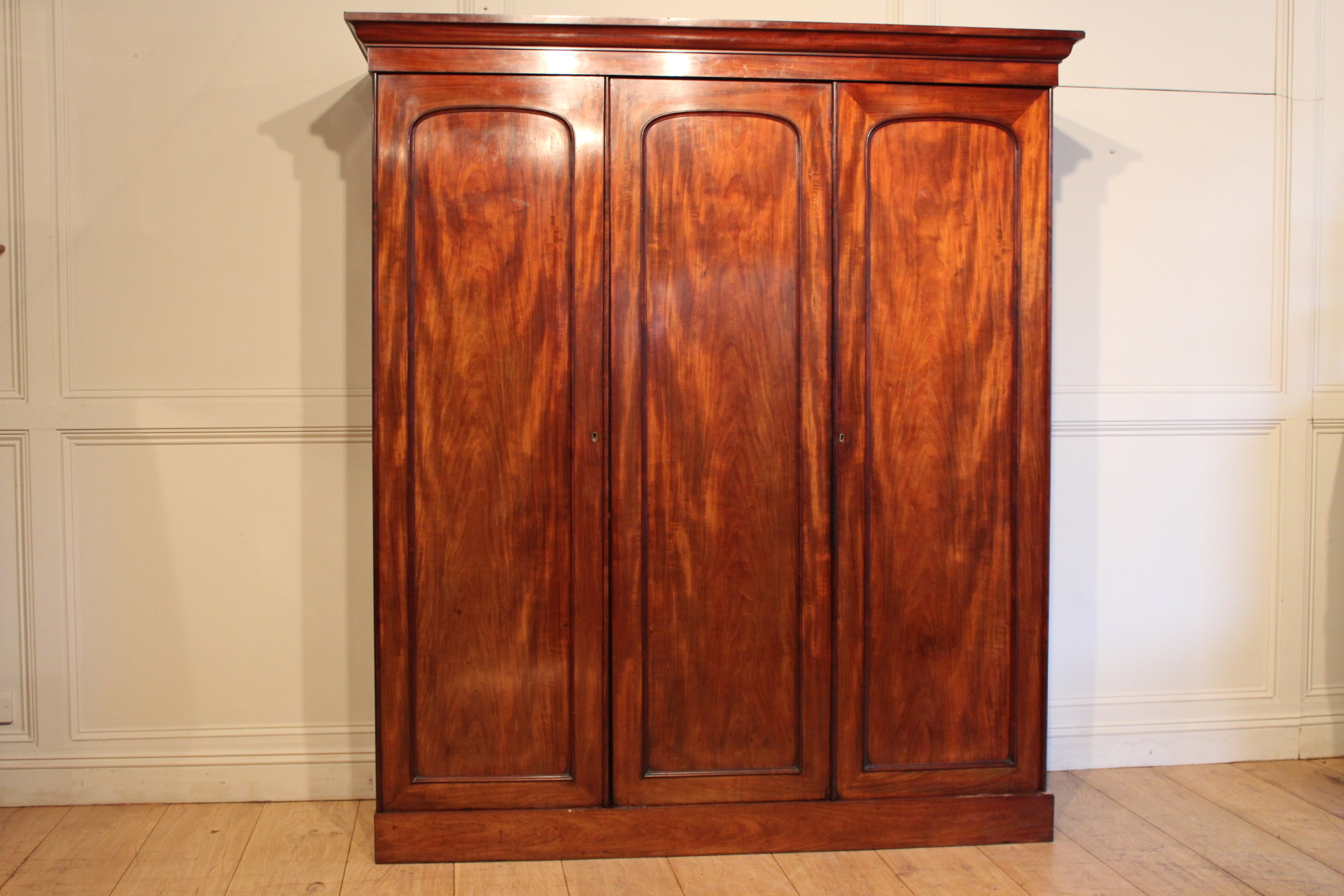 SOLD/19C MAHOGANY WARDROBE