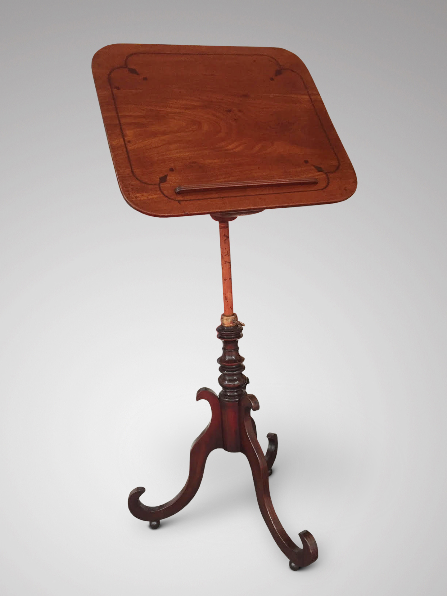SOLD/19C METAMORPHIC WINE TABLE & MUSIC STAND