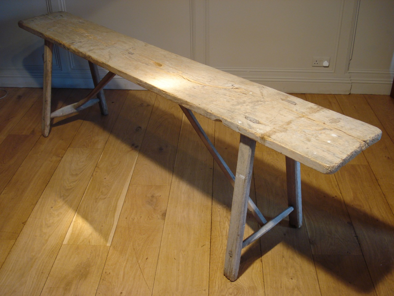 SOLD/19C TRESTLE TABLE