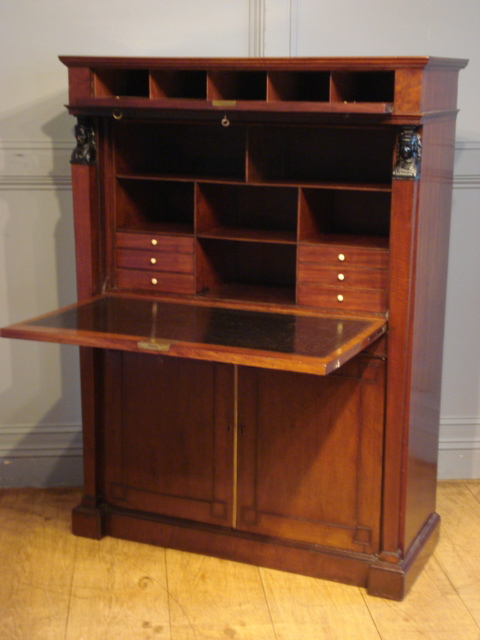 SOLD/19TH CENTURY MAHOGANY ESCRITOIRE
