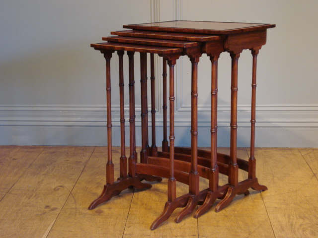 SOLD/19TH CENTURY MAHOGANY NEST OF TABLES