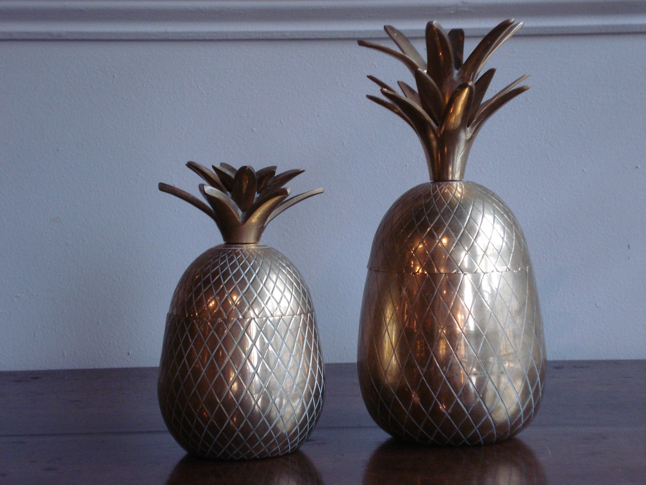 SOLD/20C BRASS PINEAPPLES
