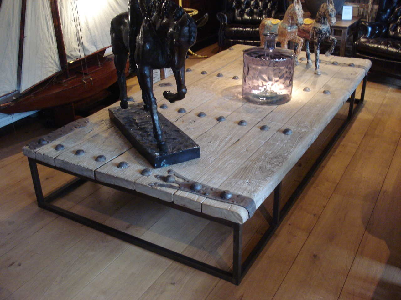 SOLD/9 FOOT LARGE ANTIQUE COFFEE TABLE