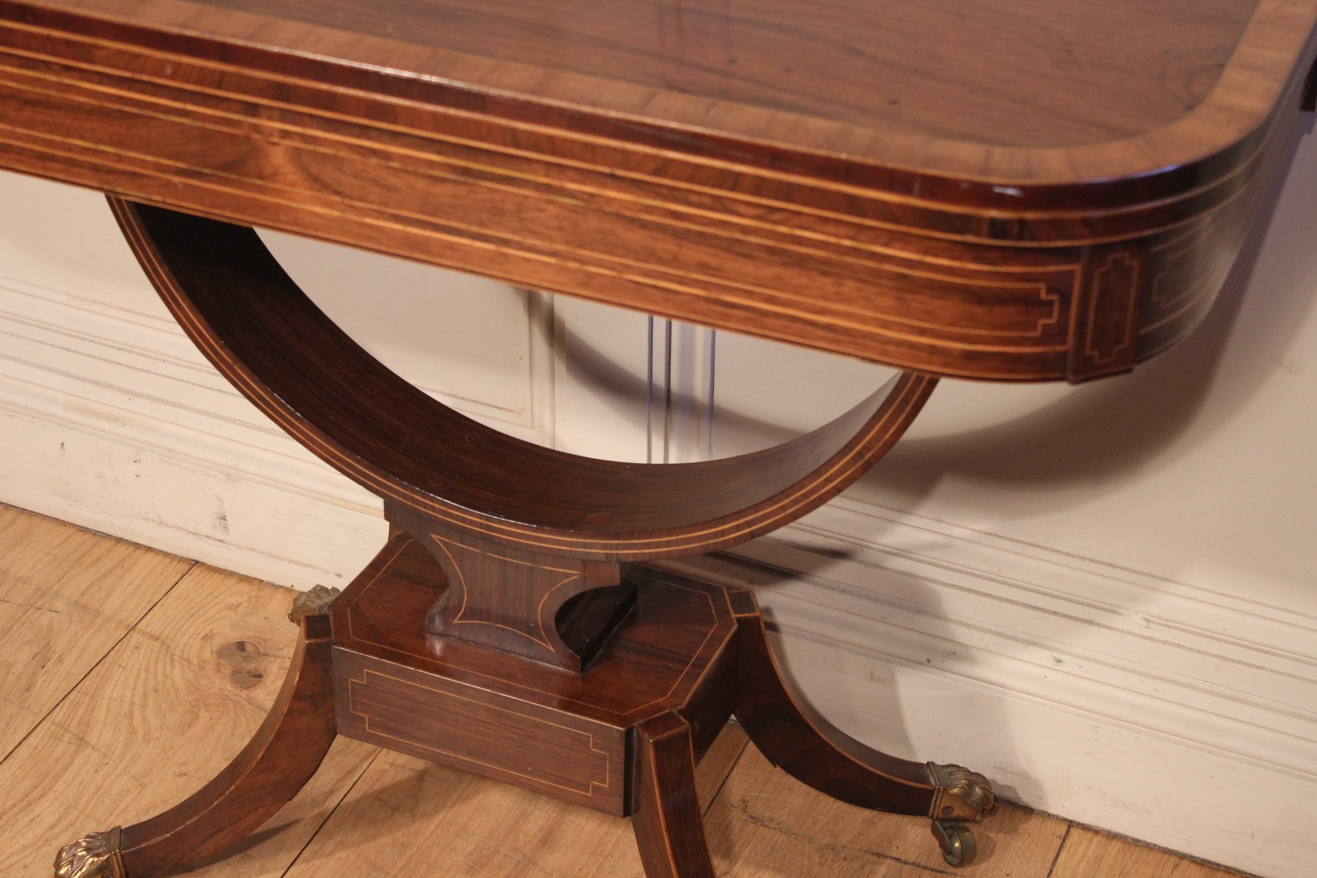 SOLD/FINE REGENCY PERIOD ROSEWOOD CARD TABLE