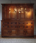 SOLD/GEORGIAN PERIOD OAK HOUSEKEEPERS CUPBOARD