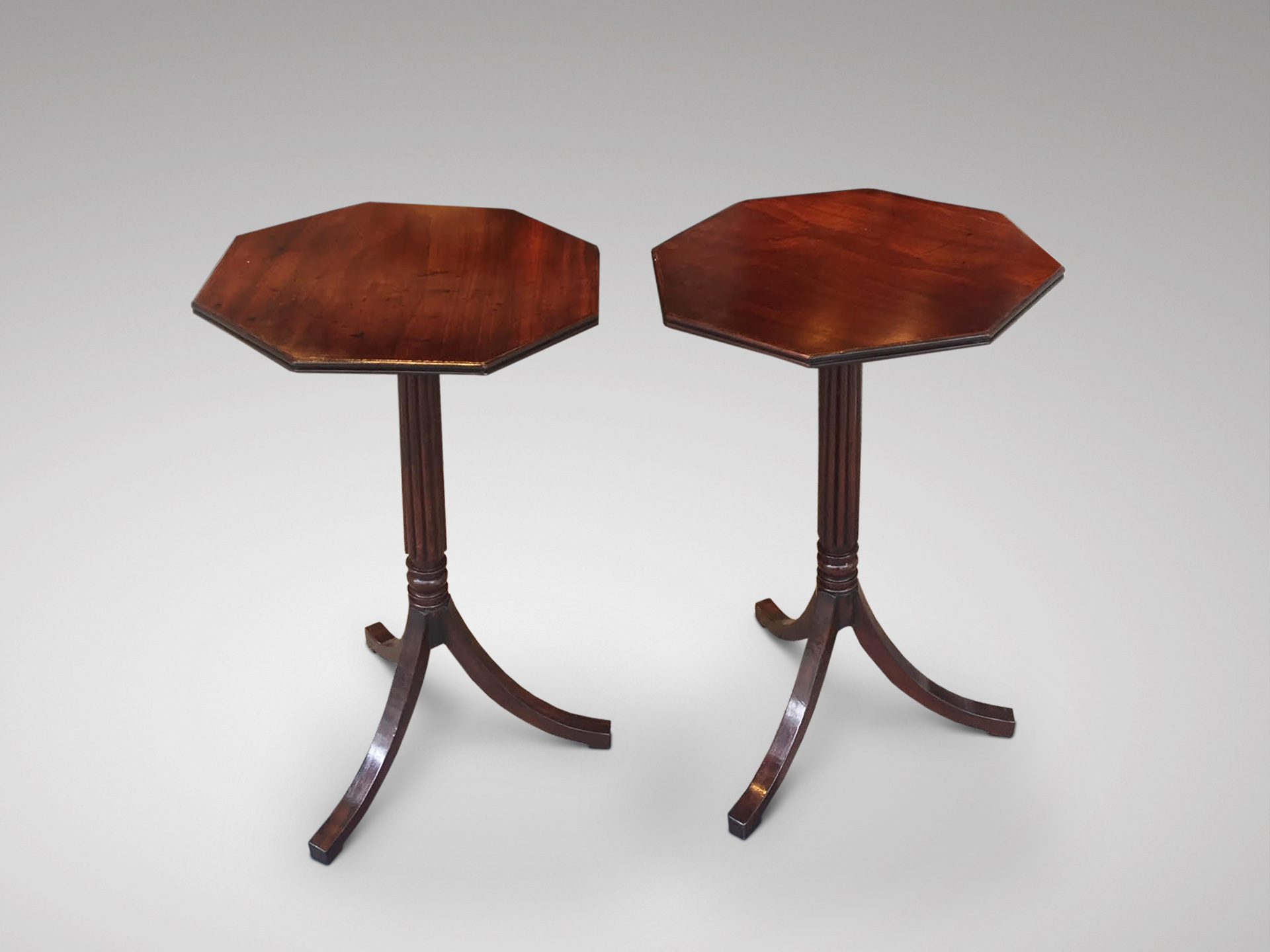 SOLD/PAIR OF REGENCY PERIOD MAHOGANY TRIPOD TABLES