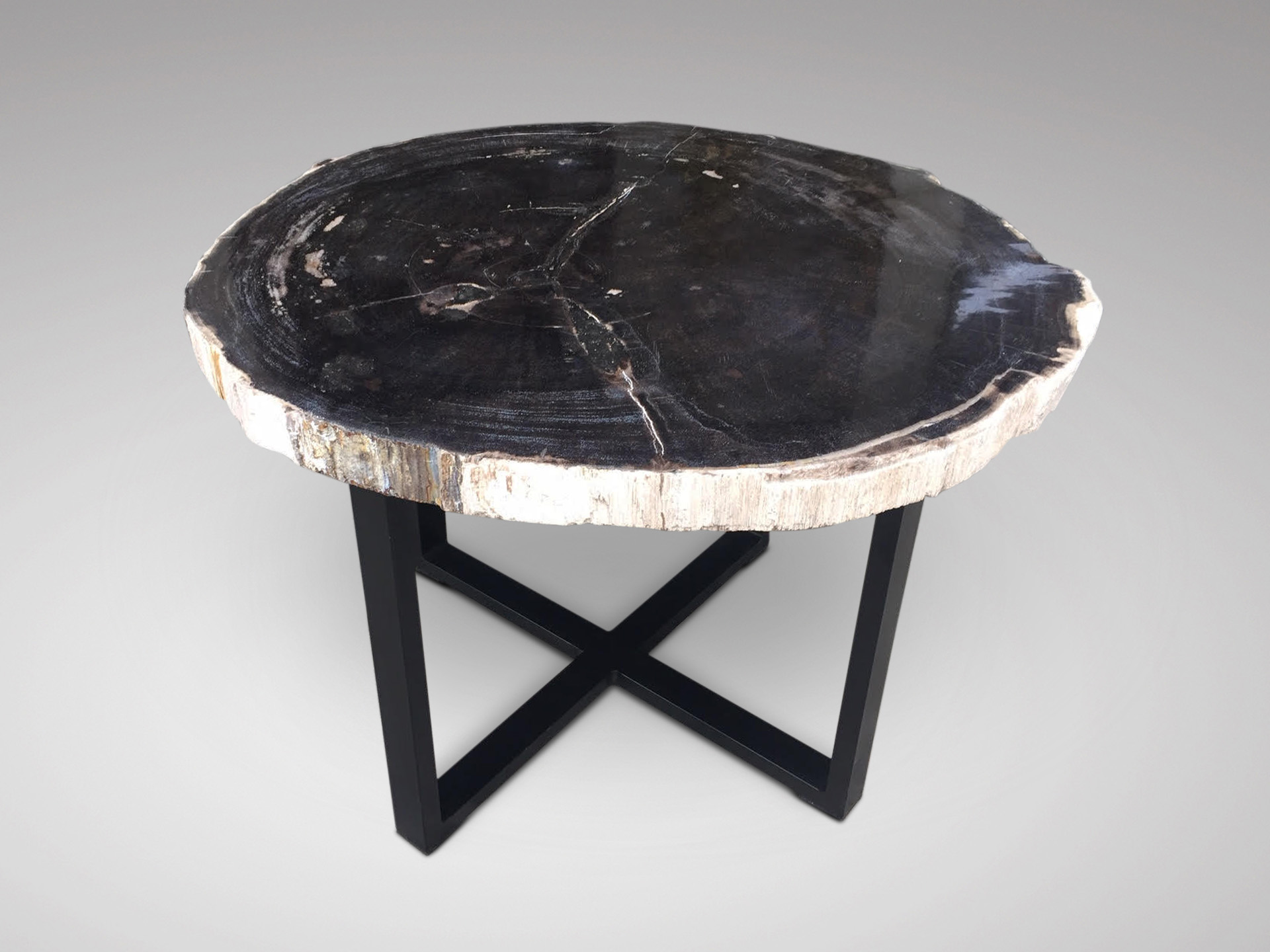 SOLD/SLICED MARBLE STONE OCCASIONAL TABLE