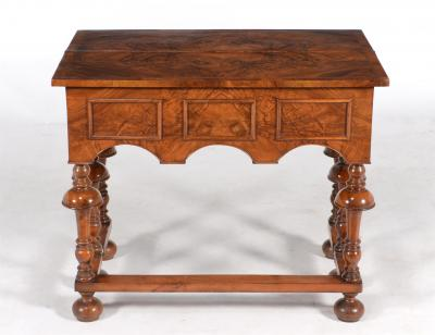 SOLD/WILLIAM & MARY STYLE WALNUT TEA TABLE