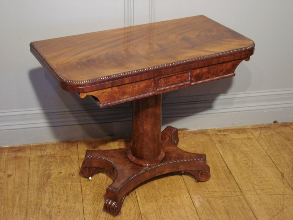SOLD/WILLIAM IV PERIOD MAHOGANY CARD TABLE